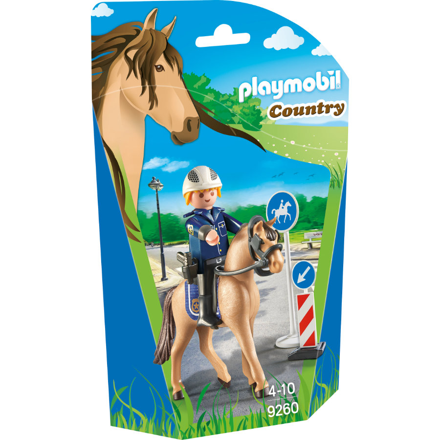 PLAYMOBIL® Country poliziotto a cavallo