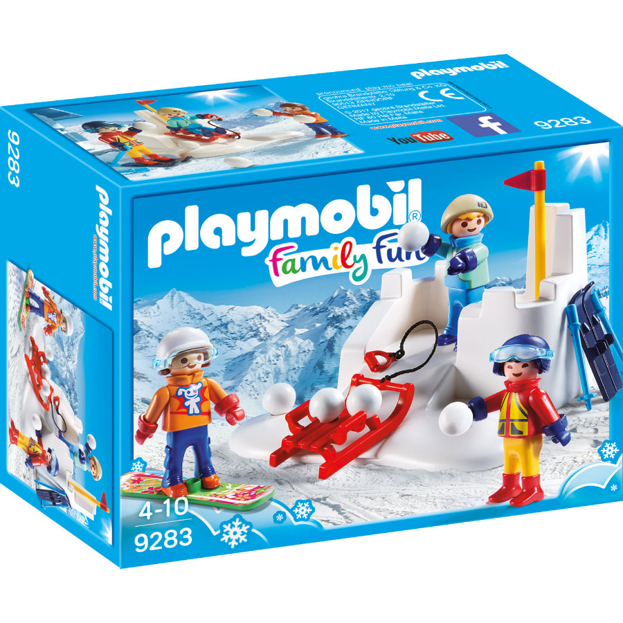 PLAYMOBIL® Family Fun Battaglia a palle di neve 9283