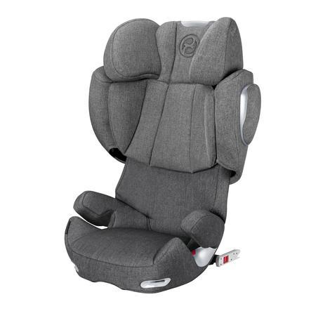 cybex PLATINUM Kindersitz Solution Q3-fix Plus Manhattan Grey-mid grey