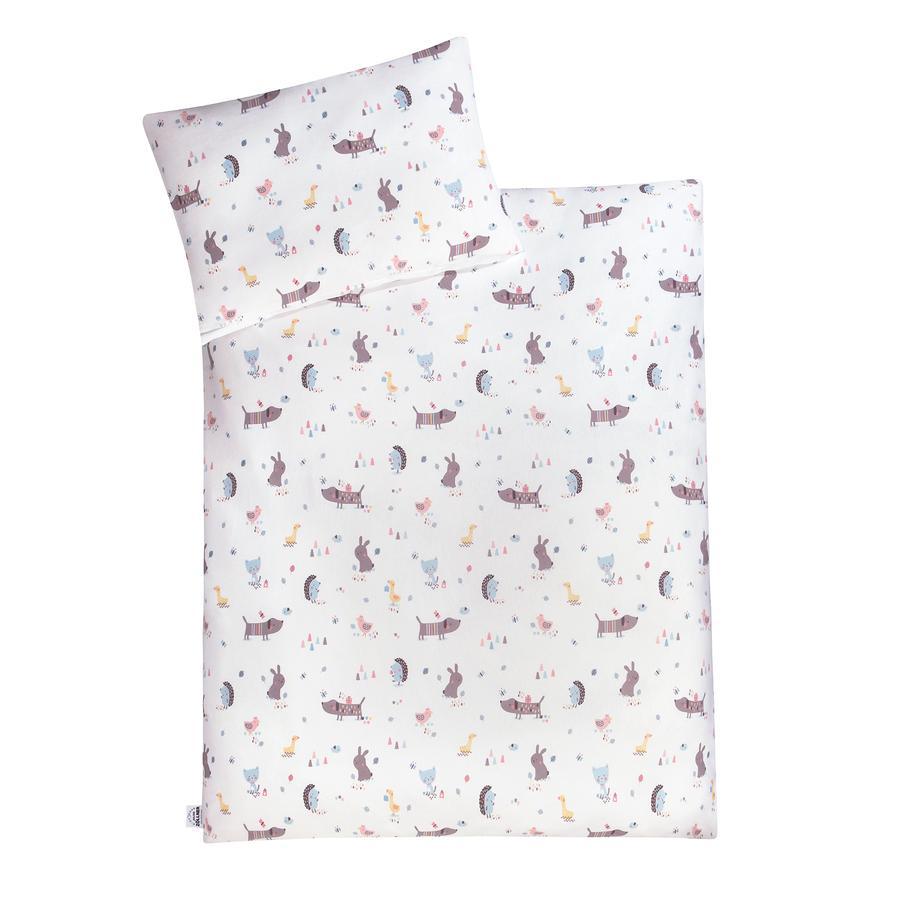 JULIUS ZÖLLNER Jersey sengetøy Crazy Animals 100 x 135 cm