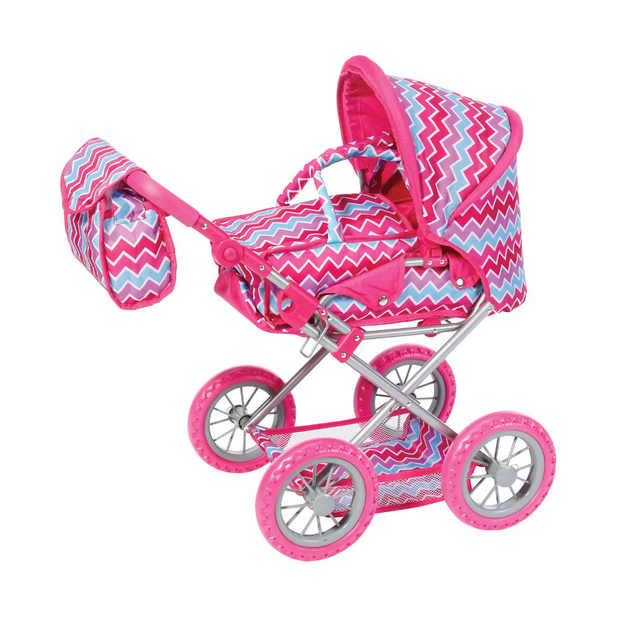 knorr® toys Puppenkombi Ruby - Pink zigzag