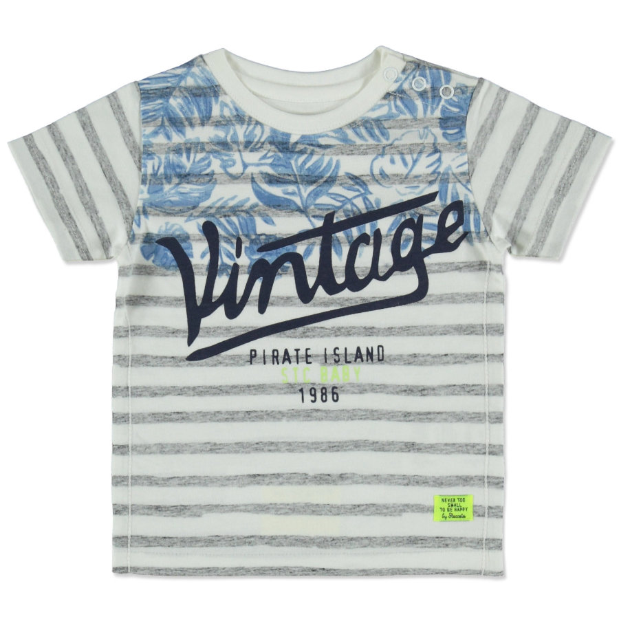 STACCATO Boys T-Shirt strisce bianco sporco