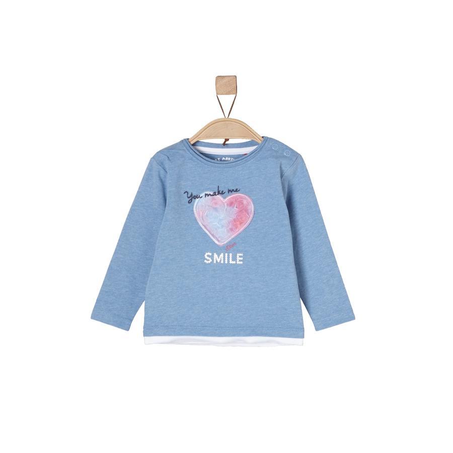 s.Oliver Långärmad tröja blue melange