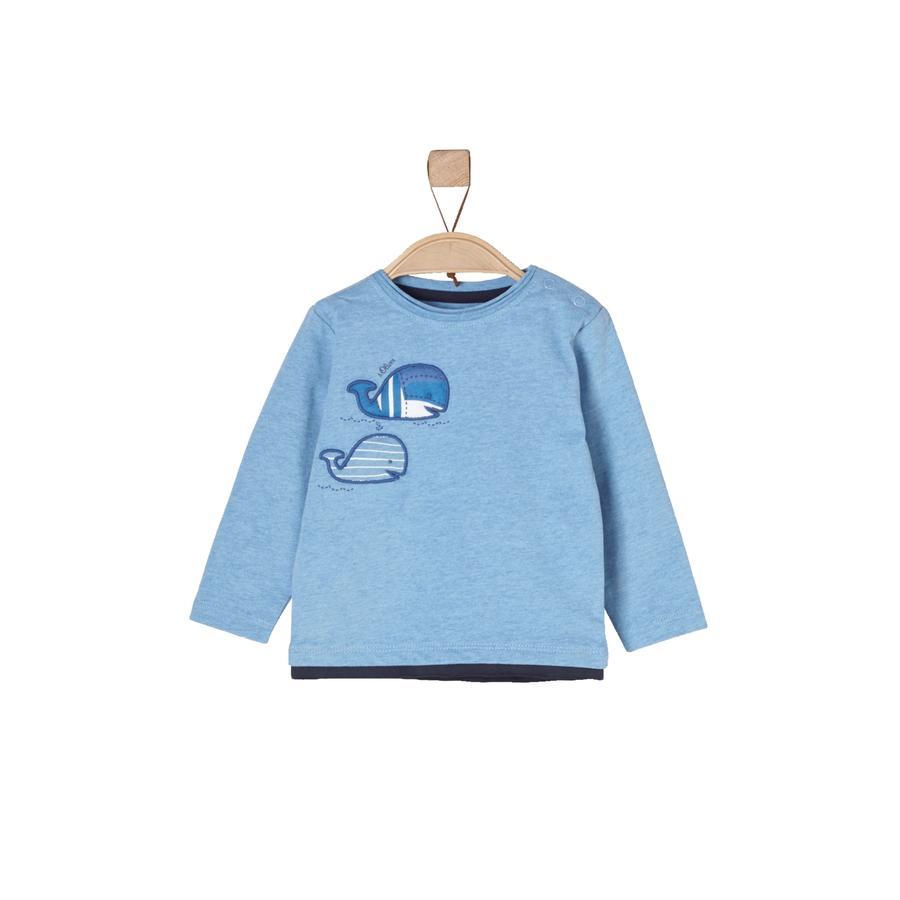 s.Oliver Boys Bluzka z długim rękawem blue melange