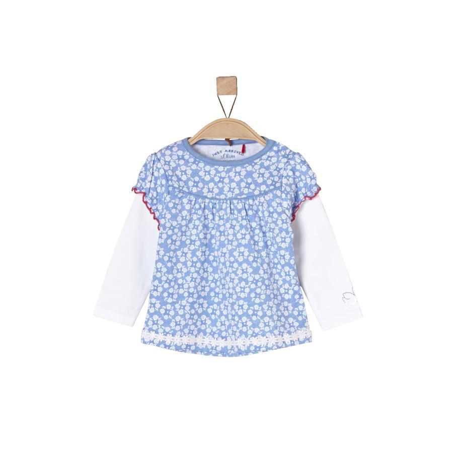 s.Oliver Girls Bluzka z długim rękawem light blue