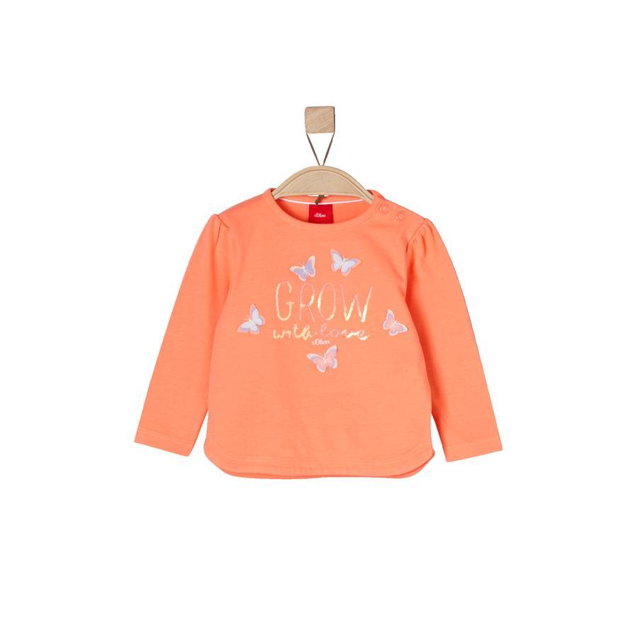 s.Oliver Girls Bluzka z długim rękawem orange