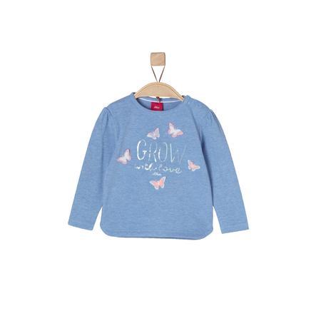 s.Oliver Girls Bluzka z długim rękawem blue melange