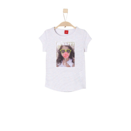 s.Oliver Girls T-Shirt white stripes