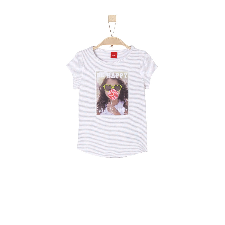 s.Oliver Girl s rayures T-Shirt blanches