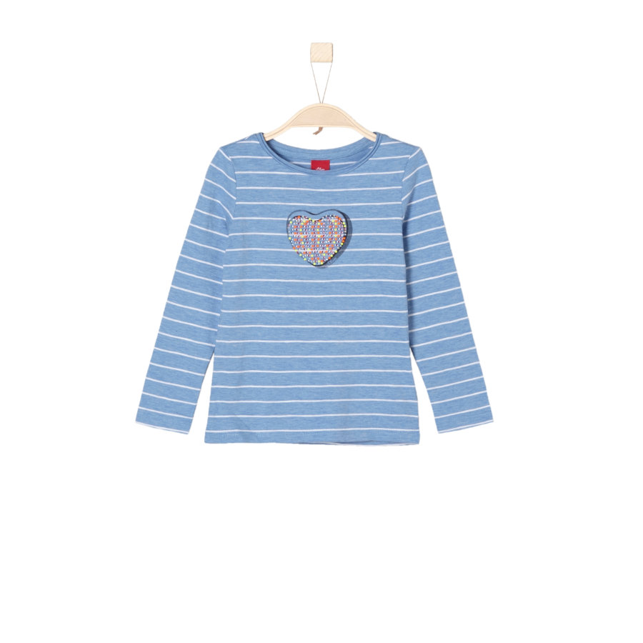 s.Oliver Girls Longsleeve light blue stripes