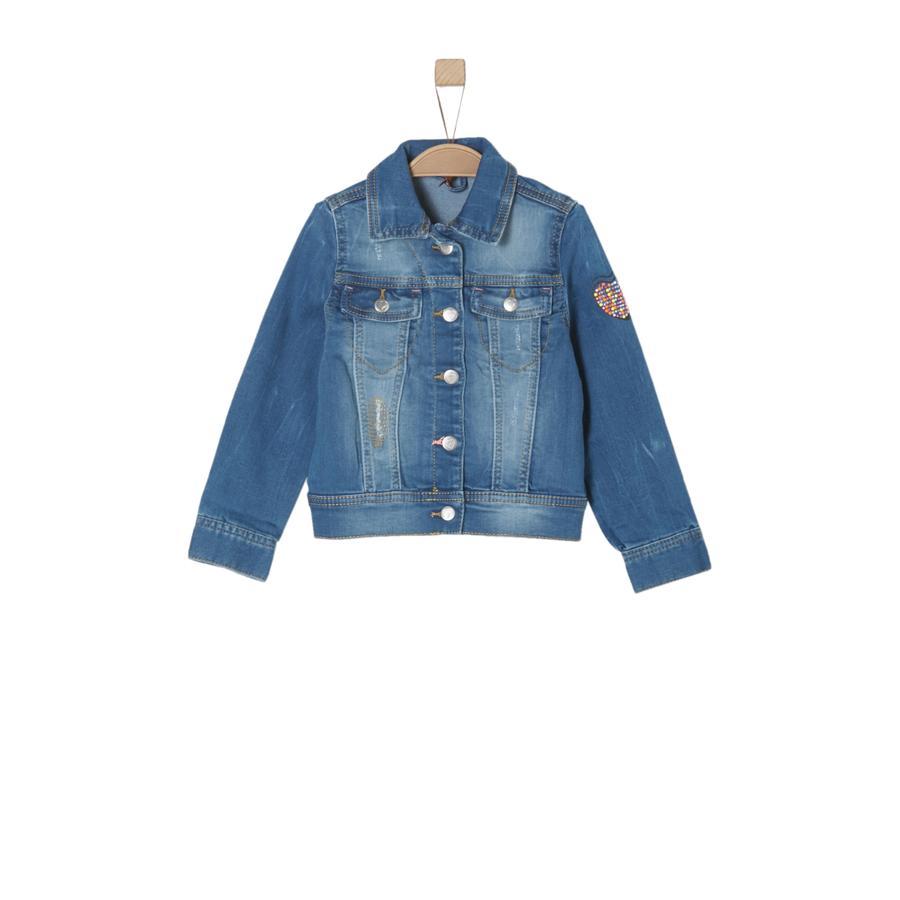 s.Oliver Girl s jeans jasje blauw denim rekbaar