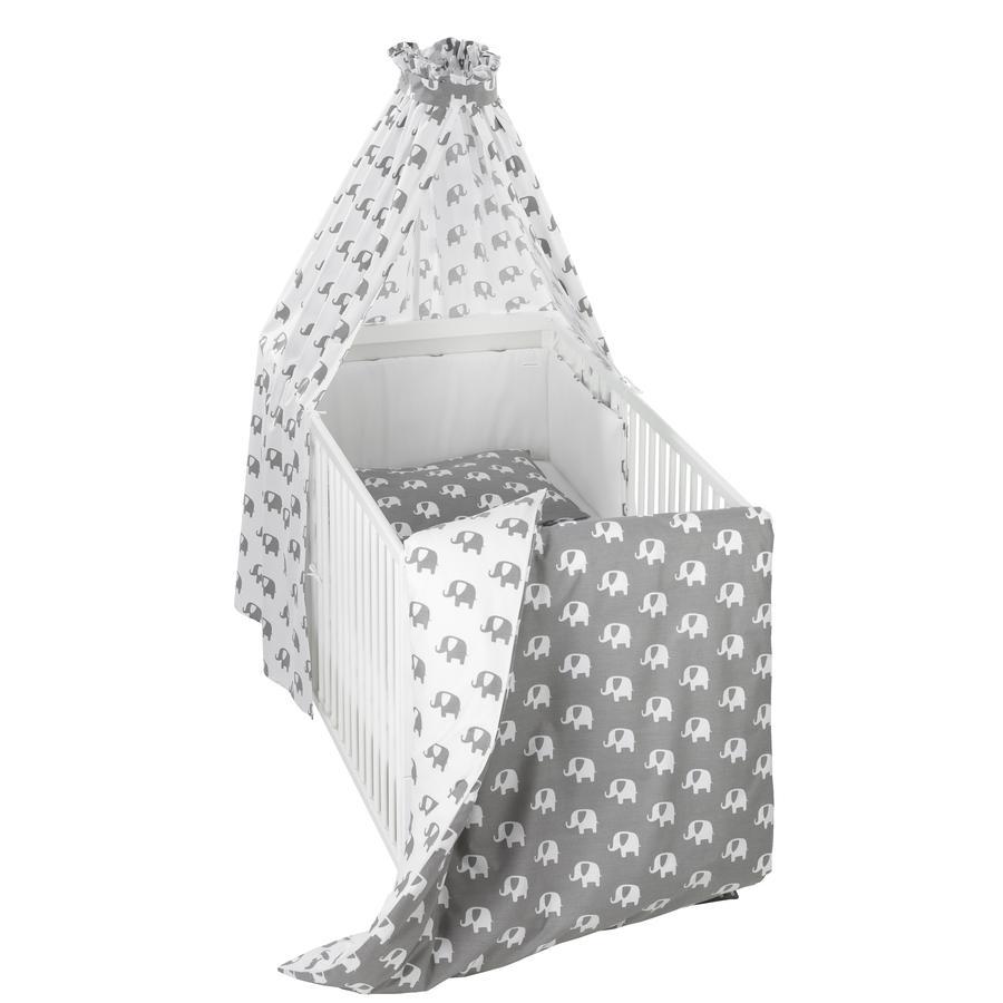 ALVI Set de lit Bellybutton, Édition spéciale, Éléphants, blanc