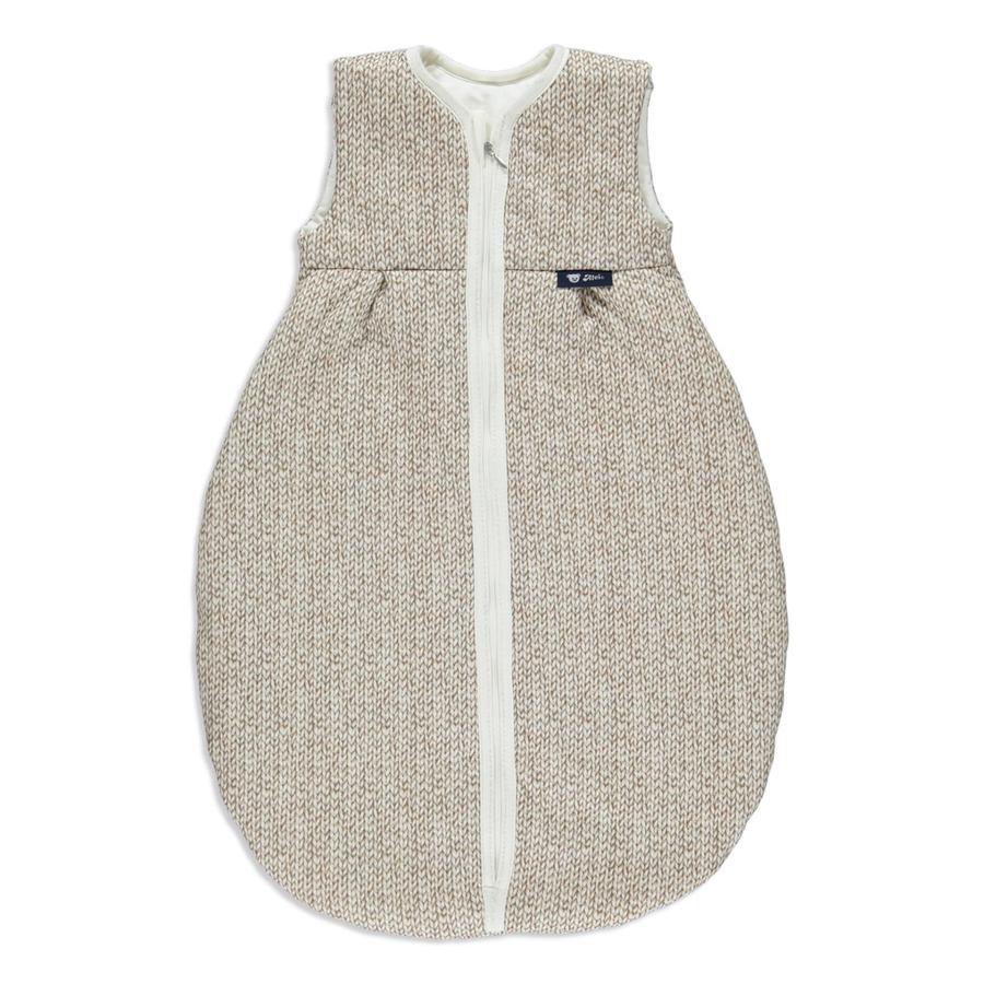 Alvi Gigoteuse toutes-saisons tricotée, Jersey beige, 70-110 cm