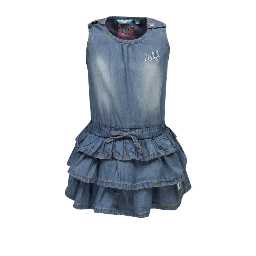 lief! Girls Jeanskleid blue denim