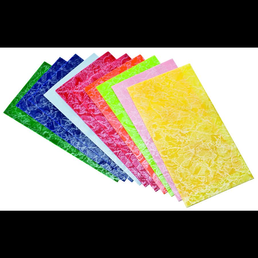 Wiedemann Placas de cera decorativas Paquete de 10 unidades de mármol multicolor