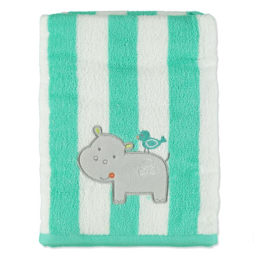 HÜTTE & CO Serviette de bain Hippo vert