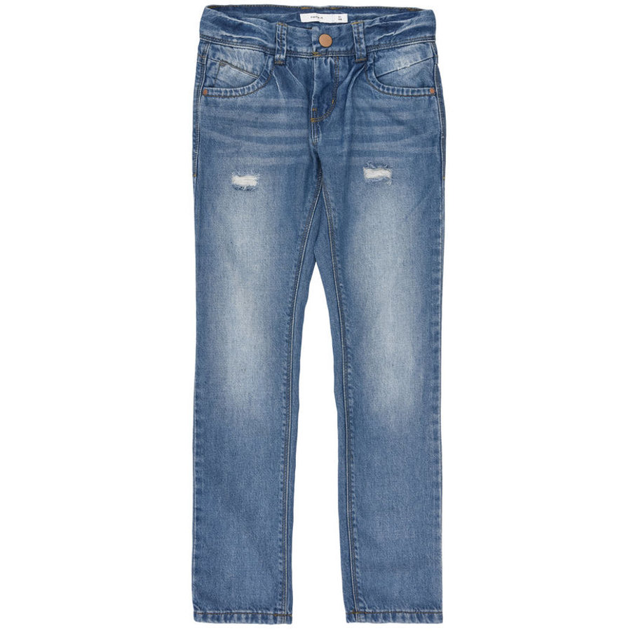 name it Telse Spodnie Jeans medium blue denim