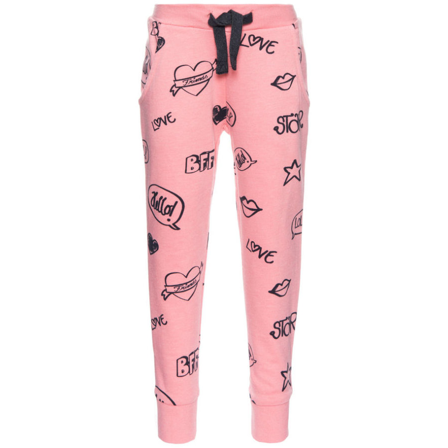 name it Girls Sweathose Hbine flamingo pink