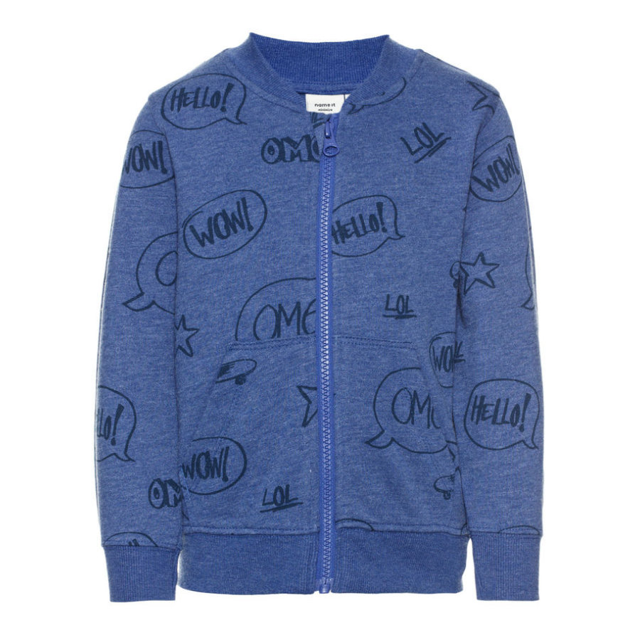 name it Boys Sweatjacke Hbent mazarine blue