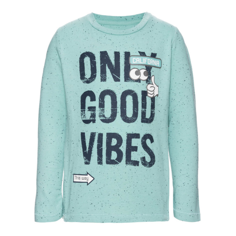 name it Boys Longsleeve Ebbe aqua haze