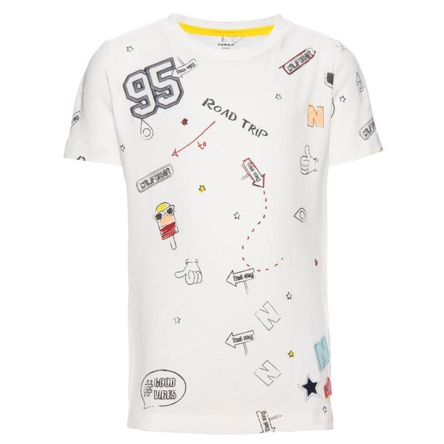 name it Boys T-Shirt Egon blanco nieve