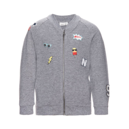 name it Boys Sweatjacke Eddie grey melange