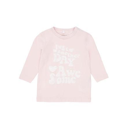 name it Girls Bluzka z długim rekawem Elin pink dogwood