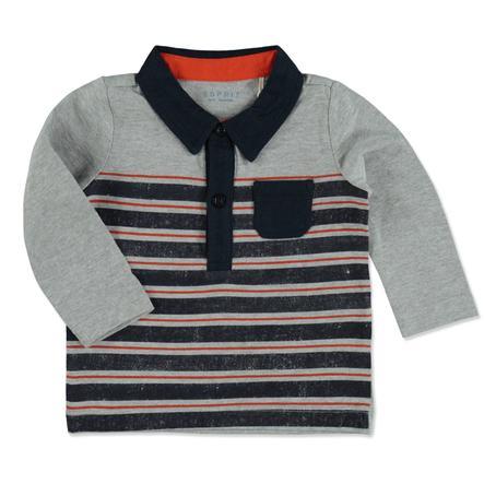 ESPRIT Cegła koszulowa polo z długim rękawem, cegła z długim rękawem