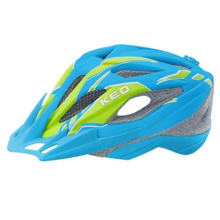 KED Kinder Fahrradhelm Street Junior Pro Blue Green Matt Gr. S 49-55 cm