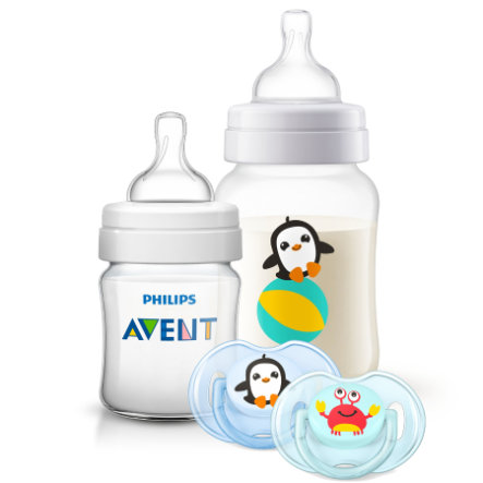 Philips Avent Neugeborenen-Set Klassik SCD374/01 + 0M+ Sea