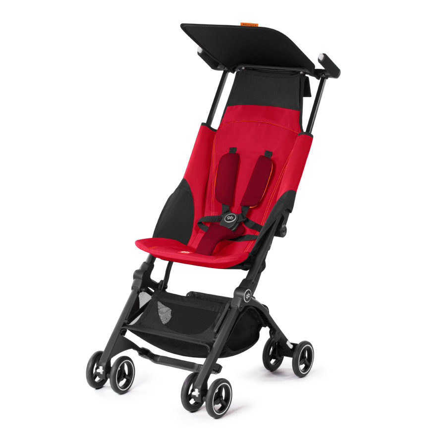 gb GOLD Poussette-canne Pockit Plus Dragonfire red/red