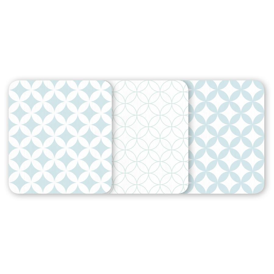 odenwälder Waschhandschuhe 3er-Pack Ornamento mint