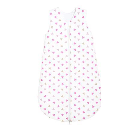 odenwälder Sommerschlafsack Jersey Dreiecke pink 70 - 110 cm