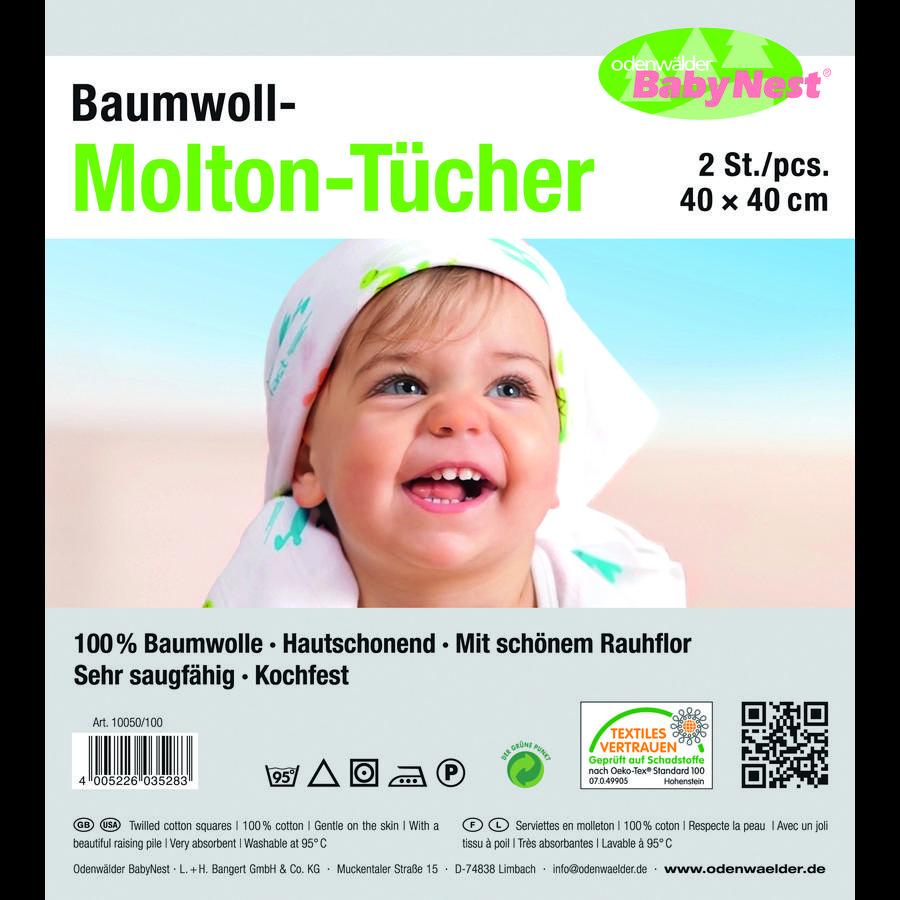 odenwälder Moltontücher 2er-Pack weiß
