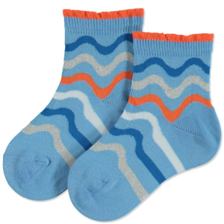 FALKE Socken Wave Stripe skyblue