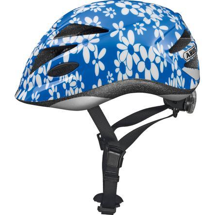 ABUS Casque vélo enfant Bundle Hubble blue flower T. M, protection pluie, fille