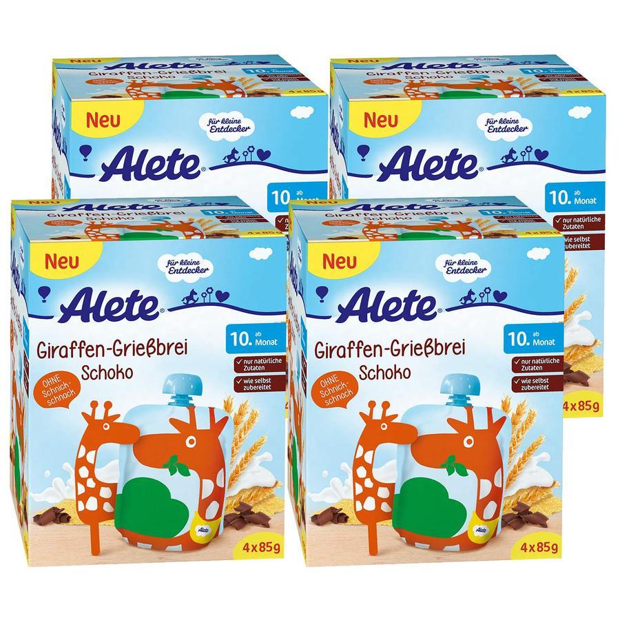 Alete Pouches Giraffen Grießbrei Schoko 16 x 90 g
