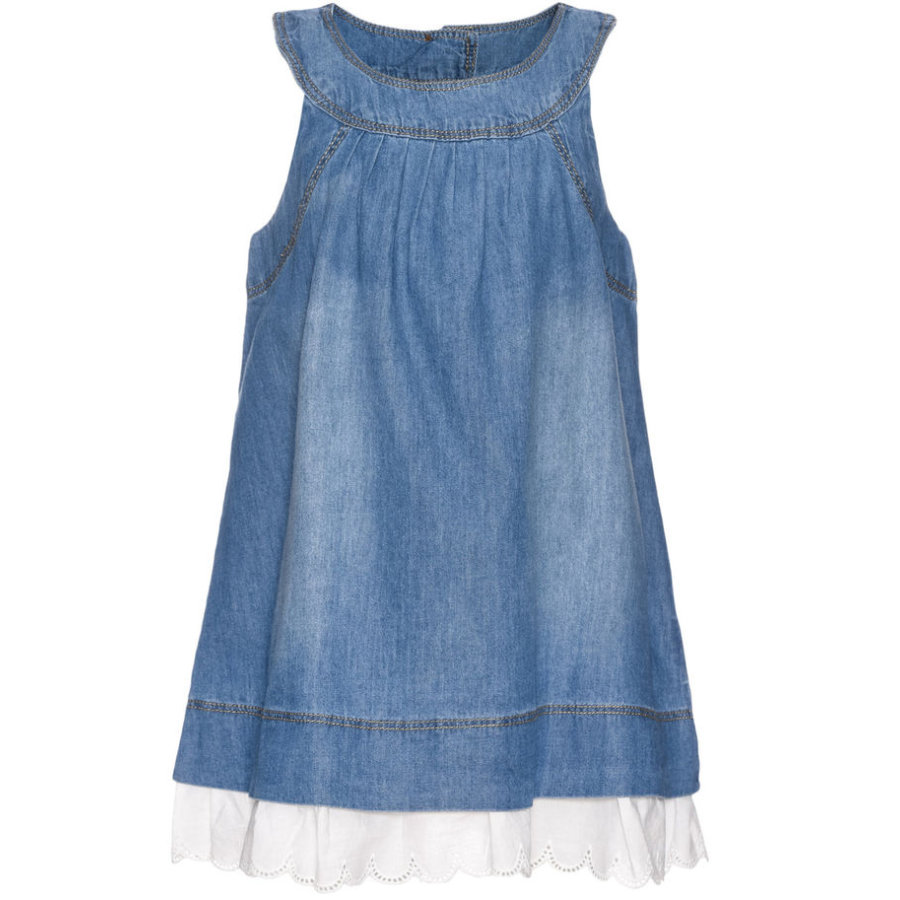 name it Girls Kleid Bava light blue denim