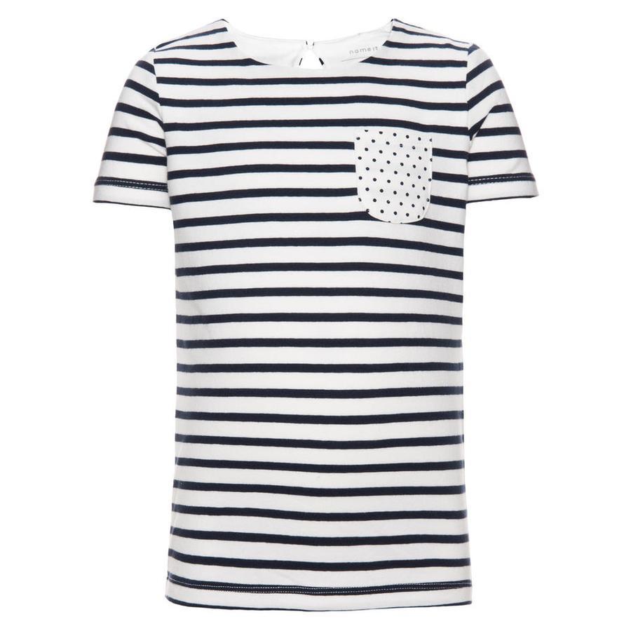 name it Girl s T-Shirt Fanny dress blues