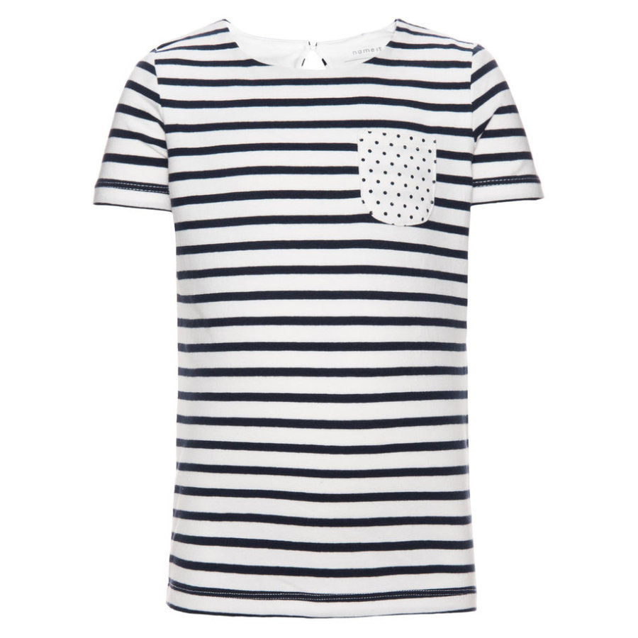 name it Girls T-Shirt Fanny dress blues
