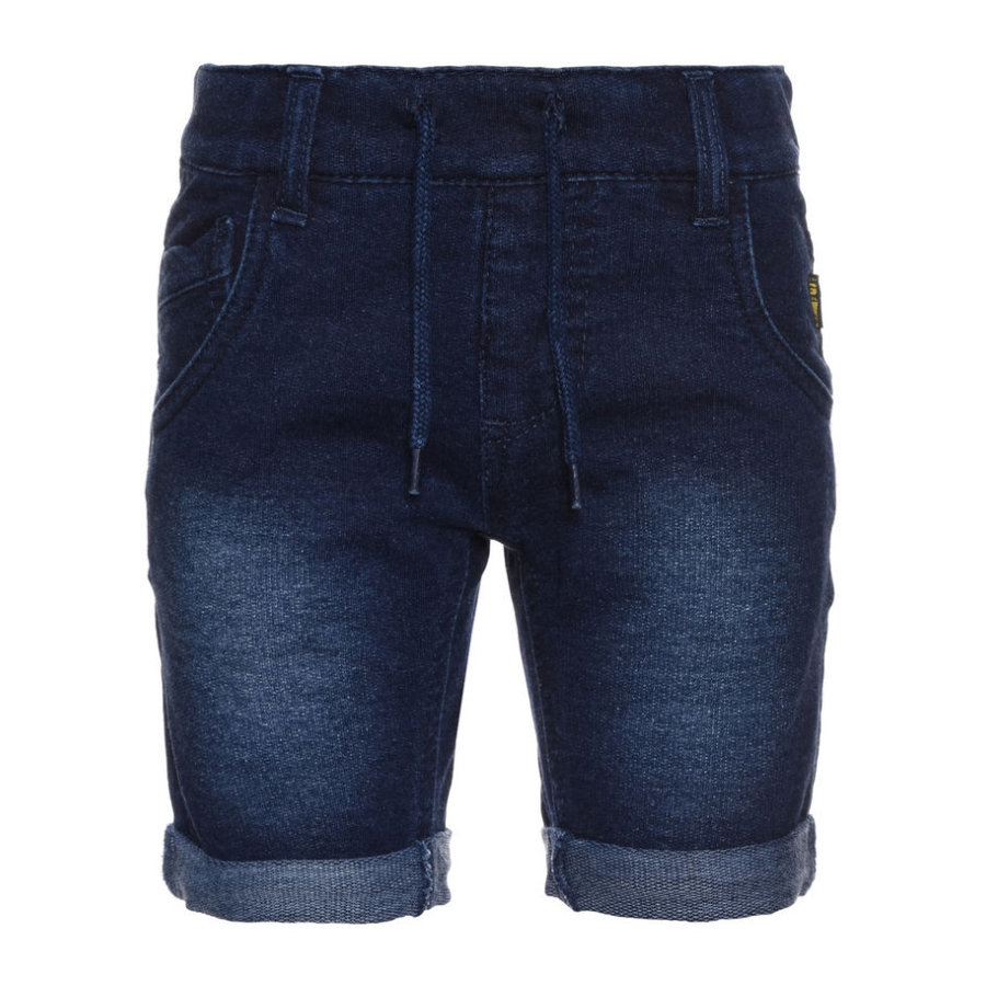 name it Boys Jeans-Shorts Bato dark blue denim