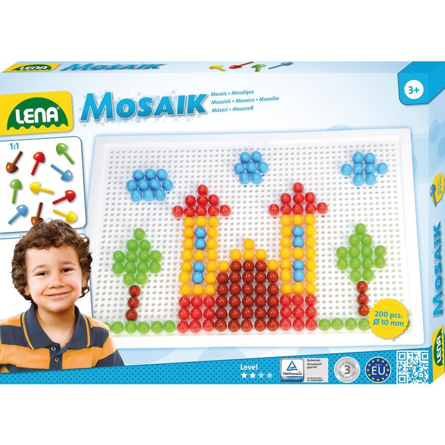 LENA® Mosaic Set Color, groß (200 Stk. x 10 mm)