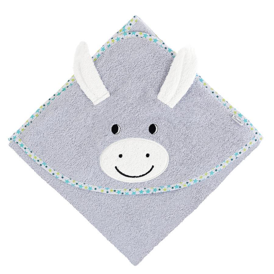 Sterntaler Håndklæde med hætte Erik sølvgrå 80 x 80 cm