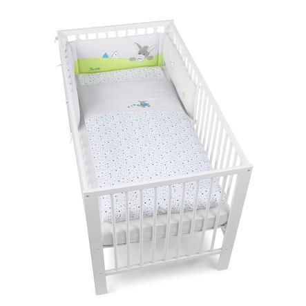 Sterntaler Parure de lit enfant Erik âne gris 135x100/40x60 cm