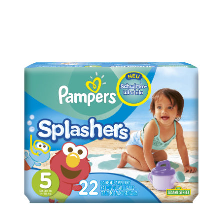 Pampers Maillots de bain couches jetables Splashers T. 5, 22 pièces