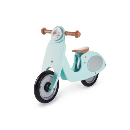 Pinolino Draisienne enfant 2 roues Vespa Wanda bois, vert menthe