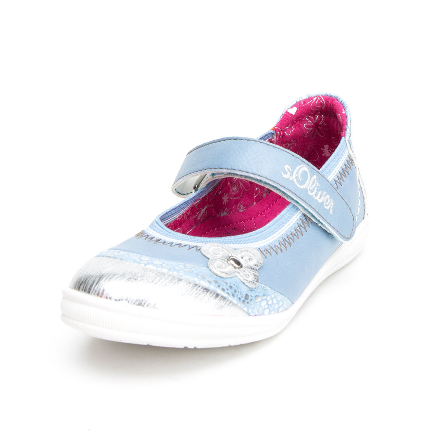 s.Oliver shoes Girls Sandale Schmetterling hellblau