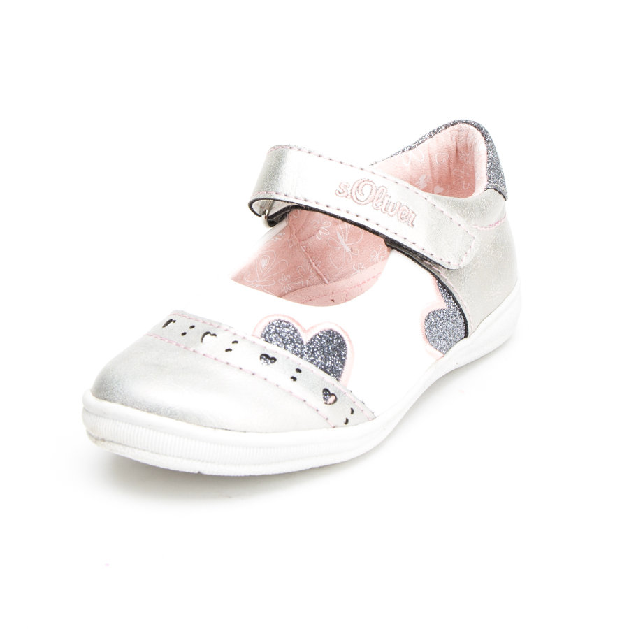 s.Oliver shoes Girls Sandale Herz silber