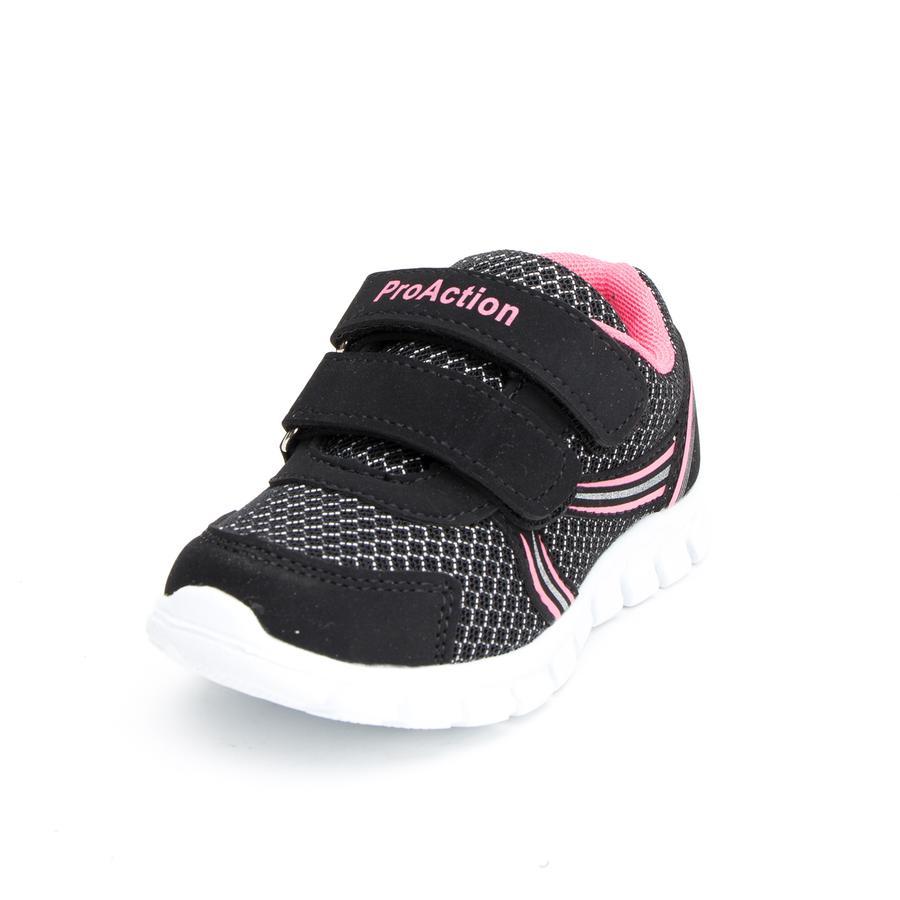 ProAction Girls Sneaker schwarz/pink