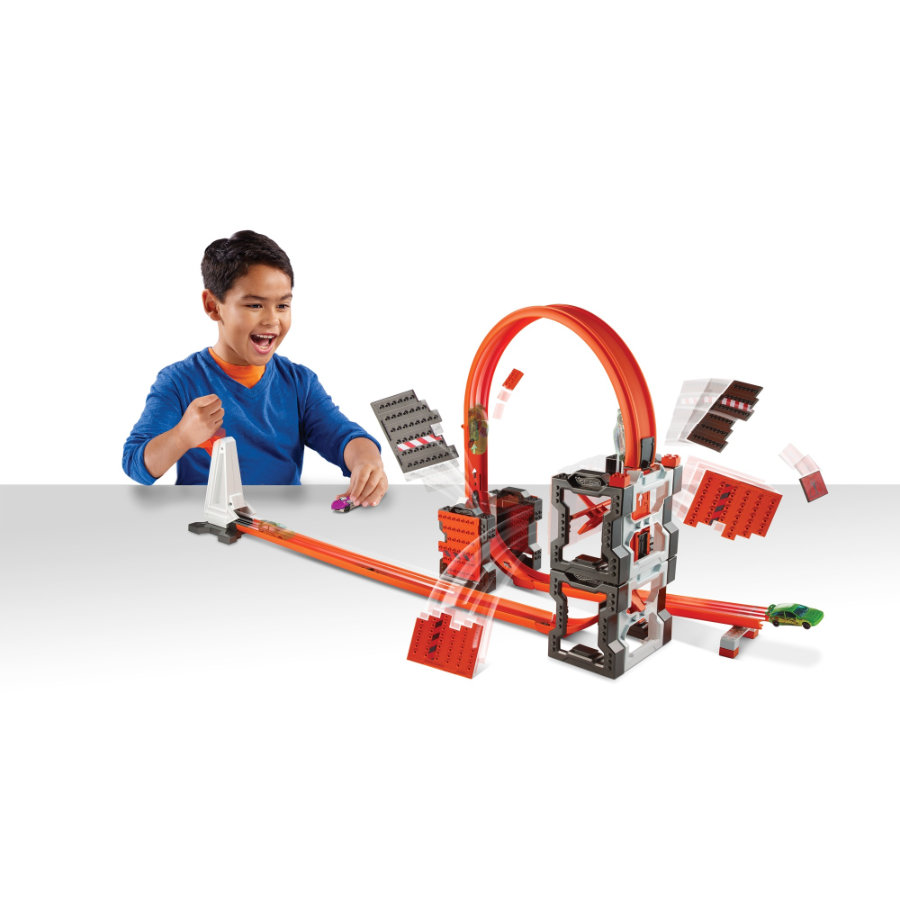 MATTEL Hot Wheels Track Builder Mega Crashset connessioni da schianto